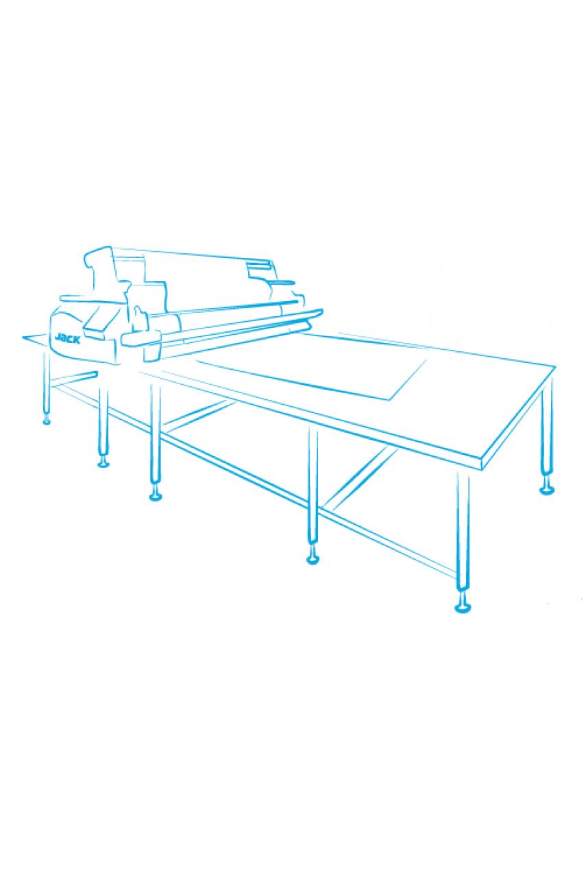 Стол с воздушной подушкой для автоматической настилочной каретки 2,43