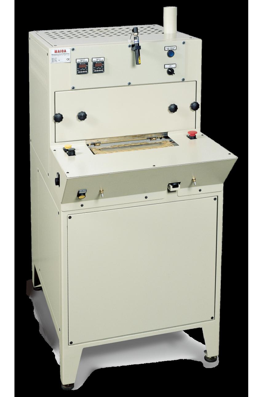 Автоматический пресс для заготовки накладных рукавных планок, планок поло MAICA 1003