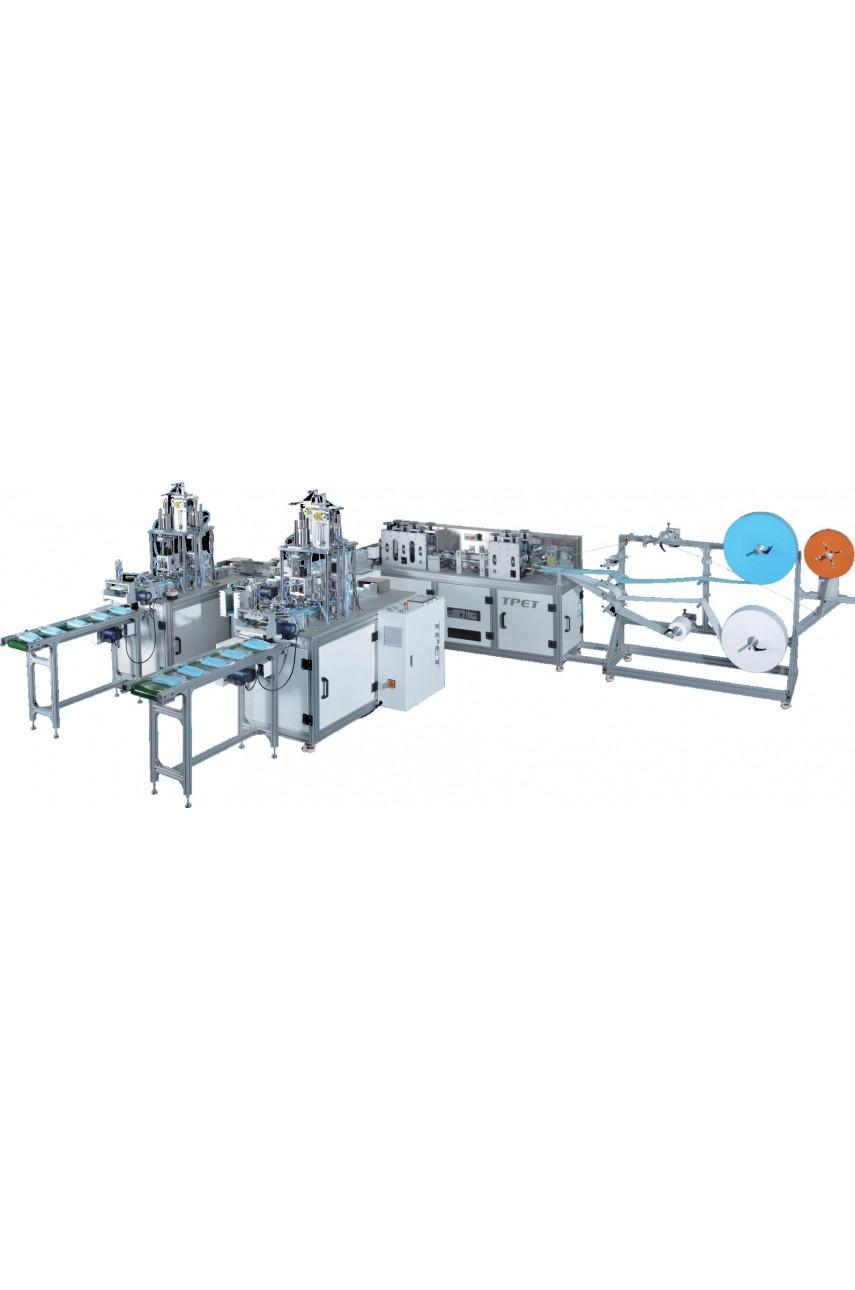 Автоматическая машина по производству утилизируемых трехслойных масок TPET ЕТ-3635