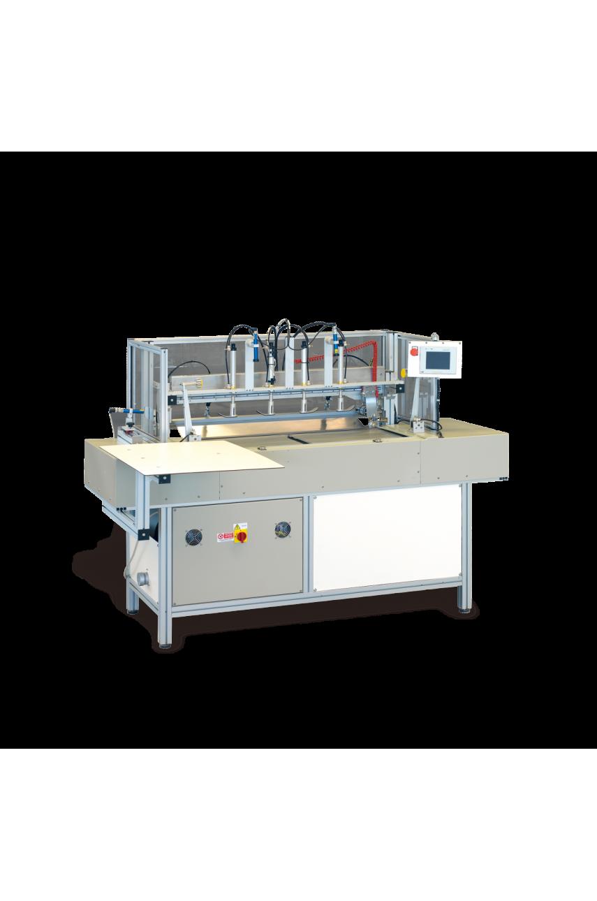 Автомат для совмещения ткани в полоску с обрезкой края и выравниванием MAICA 1060