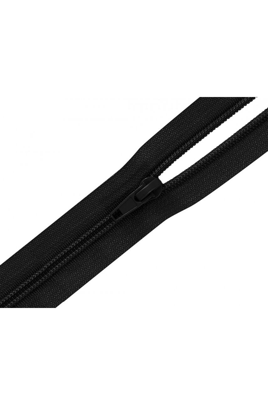 Молния спираль неразъем. 18 см Т5 чёрный (уп. 100шт.)